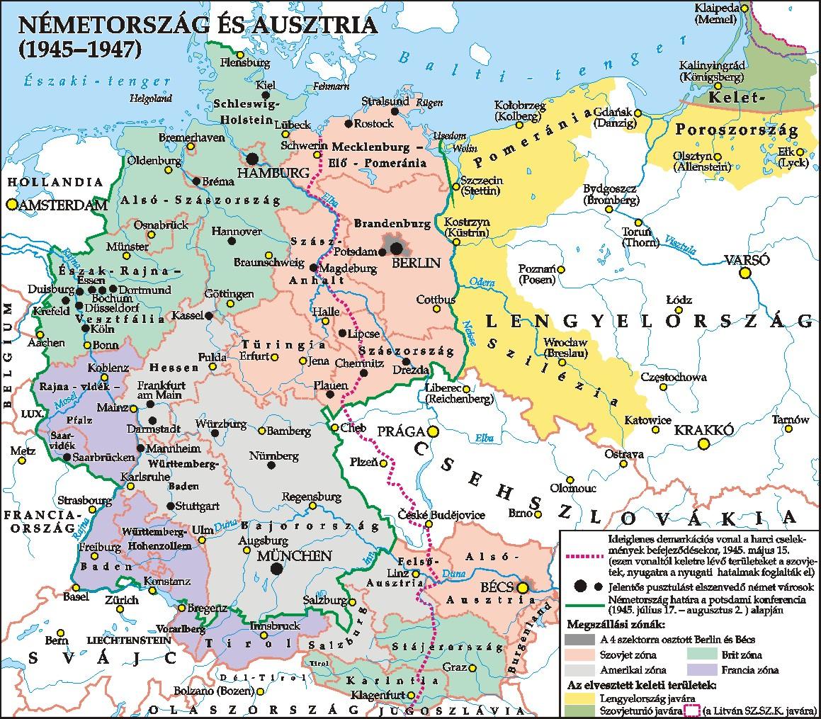 magyarország németország térkép Hontalan magyarok a háború utáni Németországban magyarország németország térkép
