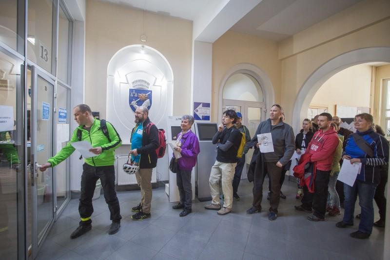 20 kerékpáros adott le kérést a bicikliutak kialakításáráért Marosvásárhelyen