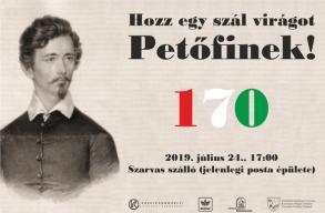 Petõfi Sándor Kézdivásárhelyen töltött éjszakájáról emlékeznek meg a háromszéki városban