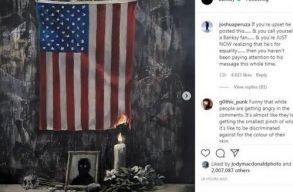 George Floyd meggyilkolására reflektál Banksy legújabb alkotása