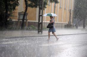Heves zivatarok és viharos szél várható hétfõ estig
