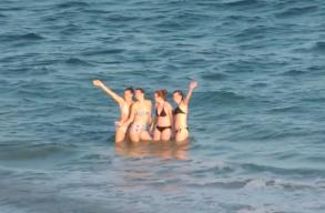 Voltak, akik a hétvégén még megmártóztak a Fekete-tengerben