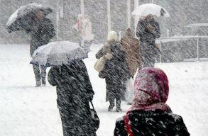 Havazásra és hóviharokra kell számítani a hétvégén