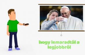 Animációs videóval biztatják a fiatalokat, hogy regisztráljanak a pápalátogatásra