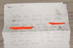 Tízévesen az óceánba dobott egy palackpostát, 9 évre rá válaszoltak is neki Franciaországból
