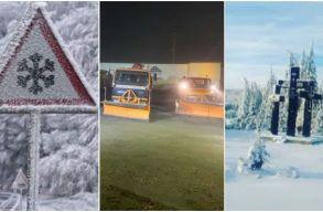 Nyolc centiméteres hó hullott a Transalpina úton, a Páring-hegységben