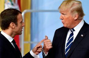 Trump a Twitteren szólt be Macronnak