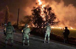 Felrobbant egy megcsapolt üzemanyag-vezeték Mexikóban