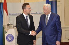 Az úzvölgyi katonatemetõrõl is tárgyalt egymással a román és a magyar külügyminiszter