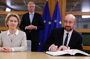 Brexit: aláírta a brit kilépésrõl szóló megállapodást az Európai Bizottság és az Európai Tanács elnöke