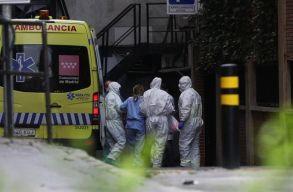 Spanyolországban ismét kilencszáz felett a napi halálos áldozatok száma