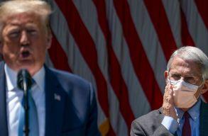 Anthony Fauci: lehetséges, hogy az amerikaiak 2022-ben maszkot fognak viselni