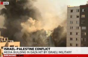 Izrael felrobbantotta az Associated Press és az Al Jazeera épületét Gázában