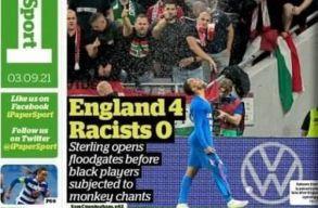A FIFA-hoz fordulnak a britek a magyar drukkerek rasszista viselkedése miatt