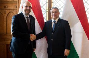 Orbán Viktor délelõtt hivatalában fogadta Kelemen Hunort