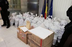 Csaknem egy tonna kokain foglaltak le a Duna-delta egy elhagyott térségében