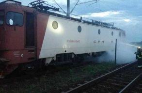 Kigyulladt vasárnap este a Bukarest-Temesvár vonatjárat mozdonya
