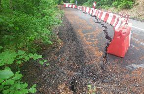 Földcsuszamlás miatt lezárják a Kézdivásárhely-Bálványos utat