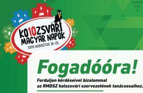 Az RMDSZ választott képviselõi fogadóórákat tartanak a Kolozsvári Magyar Napok alatt