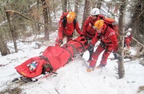 Két embert sodort el a lavina a Bucsecs-hegységben, egyikük megsérült