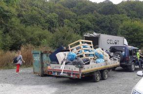 Önkéntesek takarították ki a kolozsvári Bükk területét: 50 tonna szemét gyûlt össze