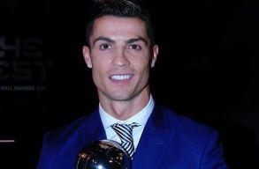 Negyedszer lett Cristiano Ronaldo az év focistája