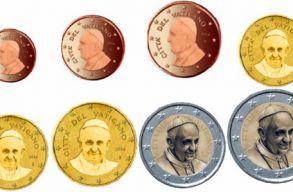 Nem szerepel többé pénzérméken Ferenc pápa
