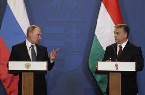 Közös sajtótájékoztatót tartott Putyin és Orbán Budapesten