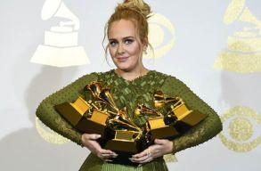 Adele a Grammy-gála nagy nyertese