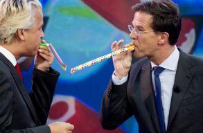 Az elsõ exit pollok szerint fölényesen nyert az eddigi kormánypárt Hollandiában
