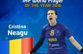 Cristina Neagu román válogatott lett 2016 legjobb nõi kézilabdázója