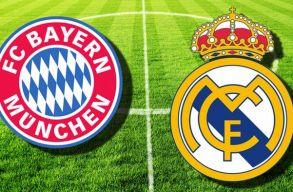 A Bayern München lesz a Real Madrid ellenfele a BL-negyeddöntõben