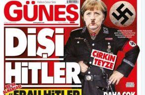 Hitlerként tette címoldalára Merkelt egy kormányközeli török lap