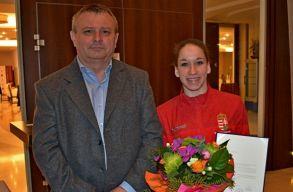 Váratlan gratulációt kapott az egyéni összetettben ezüstérmes Kovács Zsófia