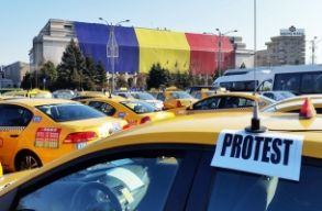 Több mint 400 taxis tiltakozott Bukarestben, de már véget ért