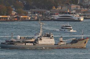 Teherhajóval ütközött és elsüllyedt egy orosz hadihajó a Fekete-tengeren