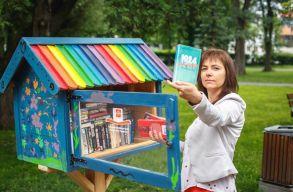 Várnak már a színes könyvkuckók Csíkszereda központi parkjában