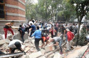 Megint nagy erejû földrengés rázta meg Mexikót, sokan meghaltak