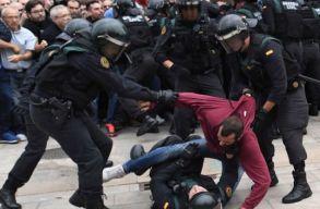 Katalán népszavazás: több sérültje van a rendõri akciónak