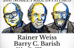A gravitációs hullámok kutatásáért adták a fizikai Nobelt