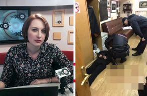 A szerkesztõségben szúrtak nyakon egy orosz újságírót