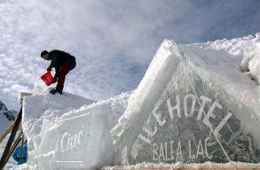 Hatvanöt százalékban foglaltak a helyek az ország egyetlen jéghotelében