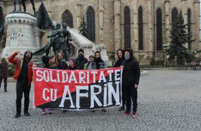 A kurdok mellett tüntettek Kolozsváron