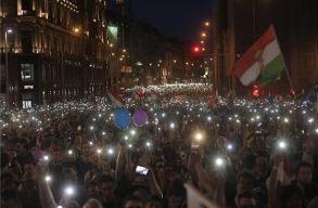 Újabb kormányellenes tüntetést tartottak Budapesten
