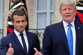 Díszvacsorával fogadta Trump Franciaország elnökét Washingtonban