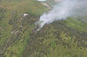 Már három hektáron ég a Domogléd-Cserna Nemzeti Park