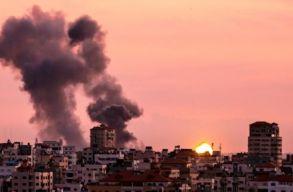 Légicsapásokat hajtott végre Izrael a Gázai övezetben