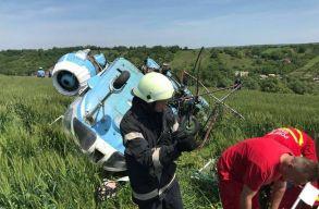 Lezuhant egy mezõgazdasági helikopter Torda közelében