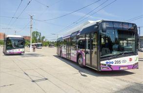 Forgalomba helyeztek tíz elektromos buszt Kolozsváron