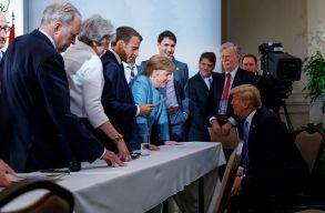 Trump mindenki ellen: feszült légkörben telt a G7 csoport találkozója
